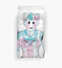 Cyberman - Red and Blue Duvet Cover
