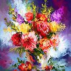 Spring flowers in vase by Mikko Tyllinen