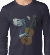 Camiseta de manga larga El viejo guitarrista