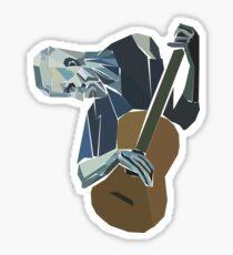 The Old Guitarist Sticker