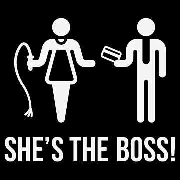 She's The Boss! (Wife & Husband / White) by MrFaulbaum