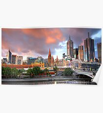 Melbourne Sunset Poster