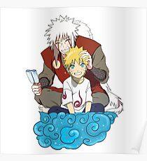 Naruto and Jiraiya Poster