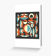 Retro Eames Era  Pisces Greeting Card