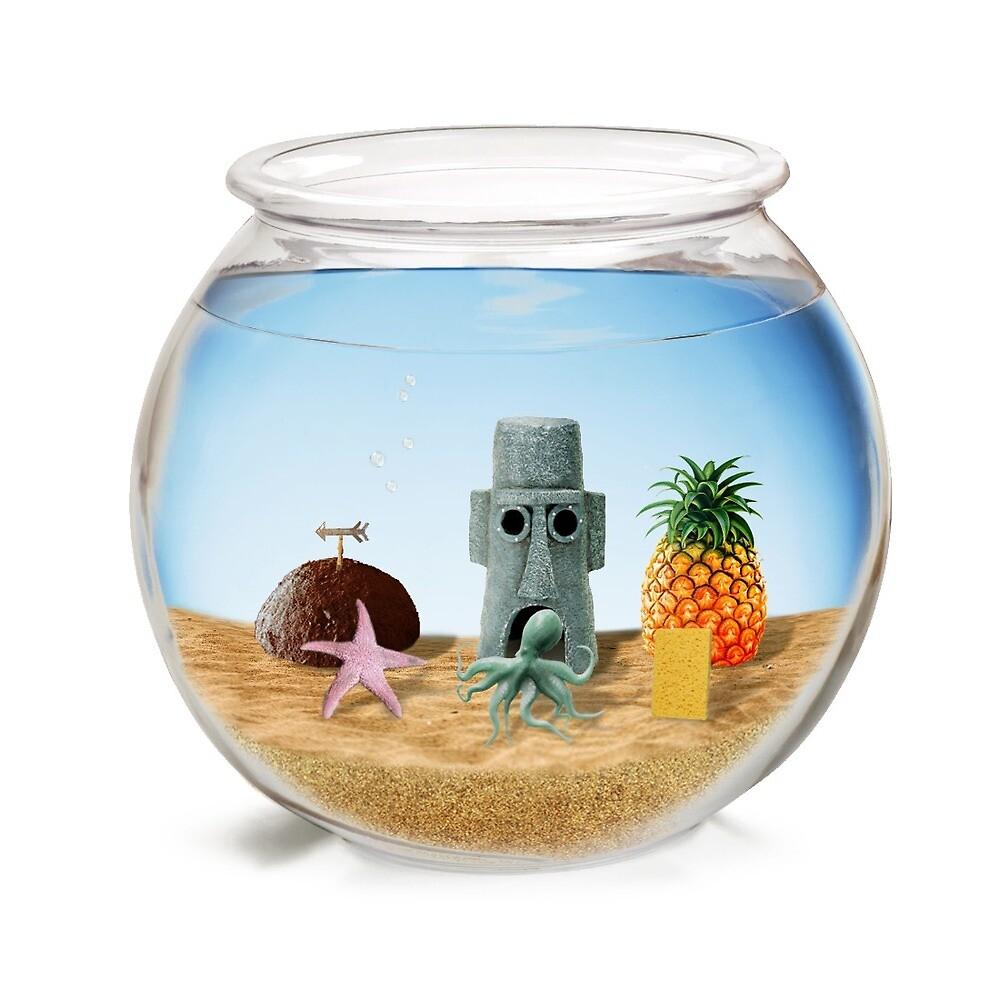 Spongebob squarepants real fish bowl by meesterfish for Best fish for fish bowl