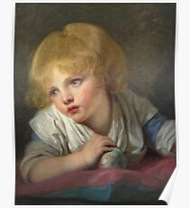 Jean-Baptiste Greuze - A Child With An Apple Poster