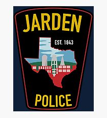 Jarden Police Department  Photographic Print
