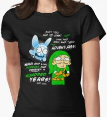 Navi Rick and Link Morty Womens Fitted T-Shirt
