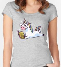Unicorn Believe in Yourself Magically Fabulous II Women's Fitted Scoop T-Shirt