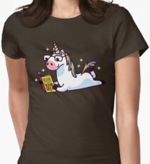 Unicorn Believe in Yourself Magically Fabulous II Womens Fitted T-Shirt