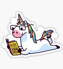 Pegatina Unicornio cree en ti mismo Mágicamente fabuloso II