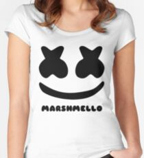 MARSHMELLO FACE Women's Fitted Scoop T-Shirt
