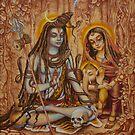 Genesha Parvati Mahadeva by Vrindavan Das