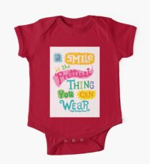 Smile is the Prettiest Thing You Can Wear One Piece - Short Sleeve
