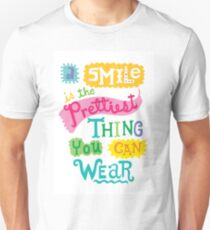 Smile is the Prettiest Thing You Can Wear Unisex T-Shirt