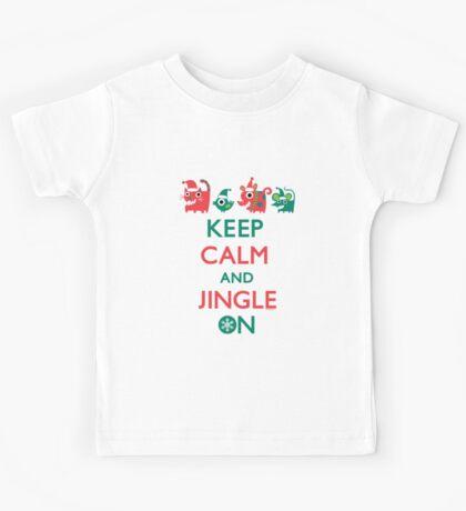 Keep Calm and Jingle On Kids Clothes