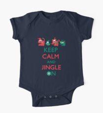 Keep Calm and Jingle On One Piece - Short Sleeve