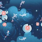Koi pond - night by hellocloudy