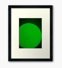 Green Work Framed Print