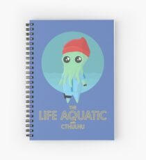 The Life Aquatic with Cthulhu (blue) Spiral Notebook