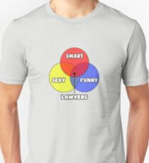 Venn Diagram ... Lawyer Humor Unisex T-Shirt