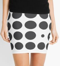 Circle Grid in Monochrome Mini Skirt