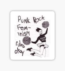 Punk Rock Feminism Rules Okay Sticker
