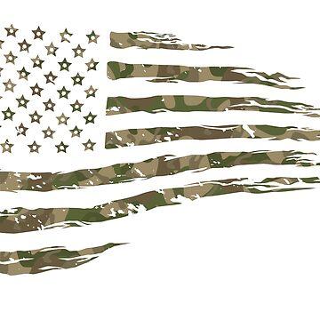 Camo Flag 1  by hmx23