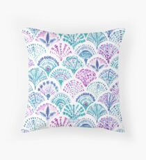 SHELL OUT Boho Mermaid Scales Throw Pillow