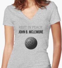 Rest In Peace- John b Mclemore (Globe Classic) Women's Fitted V-Neck T-Shirt