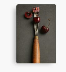 Cherries and Chisel Canvas Print