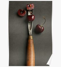 Cherries and Chisel Poster
