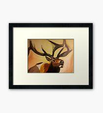 """""""Casanova"""" - Elk Painting Framed Print"""