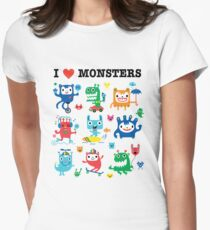 Monster Love Womens Fitted T-Shirt
