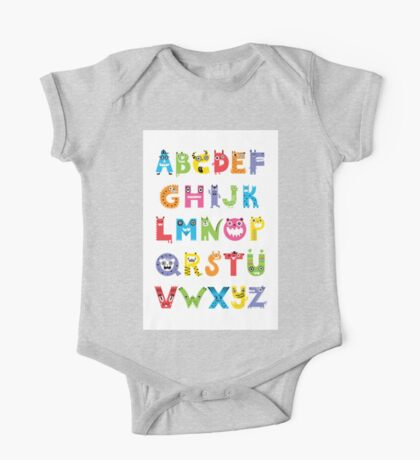 Alphabet Monsters poster Kids Clothes