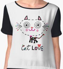Cat Love - heart Chiffon Top