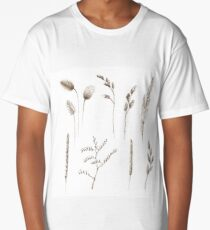Hand drawn cereal crops. Long T-Shirt