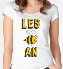 LES BEE AN LESBIAN Women's Fitted Scoop T-Shirt