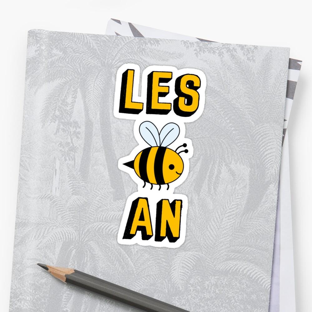 LES BEE EINE LESBIAN Sticker Vorne