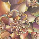 Quiescence Floral Fractal by Kelly Dietrich
