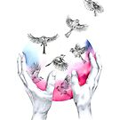 wild and free - pink von youdesignme