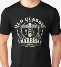 Old Classic Barber Shop Retro Vintage Distressed Design Unisex T-Shirt