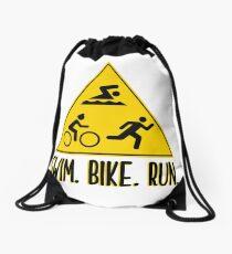 Triathlon - Schwimmen Bike Run Rucksackbeutel
