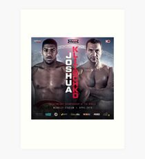 ANTHONY JOSHUA VS WLADIMIR KLITSCHKO OFFICIAL POSTER Art Print