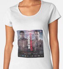 ANTHONY JOSHUA VS WLADIMIR KLITSCHKO OFFICIAL POSTER Women's Premium T-Shirt