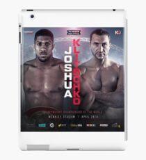 ANTHONY JOSHUA VS WLADIMIR KLITSCHKO OFFICIAL POSTER iPad Case/Skin