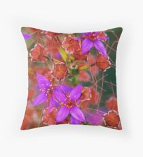 Purple Calytrix, Stirling Ranges Throw Pillow