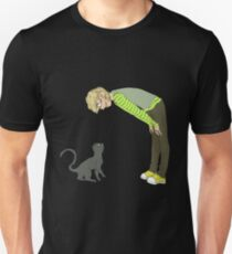 Adrien with a cat Unisex T-Shirt