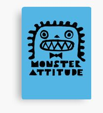 Monster Attitude Canvas Print