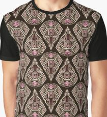 Seamless antique pattern ornament. Geometric art stylish background repeating texture Graphic T-Shirt